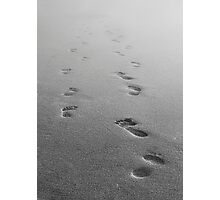 Fresh Footprints Fading Photographic Print