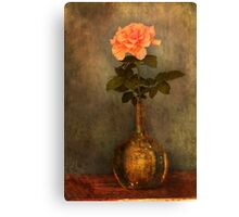 rose in a bottle Canvas Print