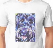 Labradoodle Dog Bright colorful pop dog art Unisex T-Shirt