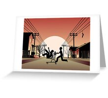 Sunset Suburban Greeting Card