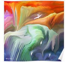 Flowing- Abstract- 26/wall art +Clothing & Art + Products Design  Poster