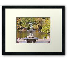 Bethesda Fountain in Central Park Framed Print