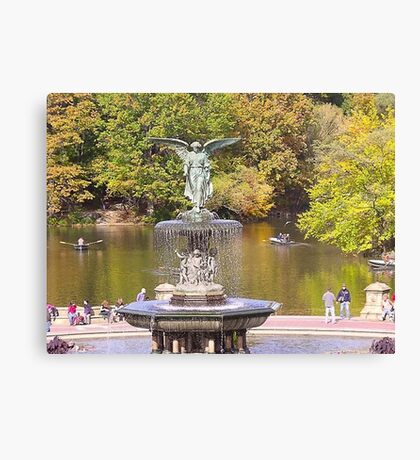 Bethesda Fountain in Central Park Canvas Print