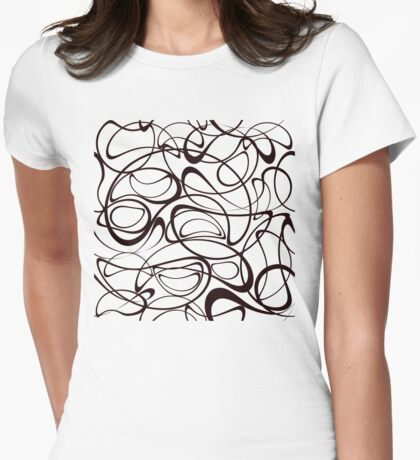 Modern stylish texture Womens Fitted T-Shirt