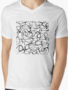 Modern stylish texture Mens V-Neck T-Shirt