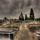 Dramatically Colourful - Local Cemetery Australia by Andrew Rossington