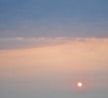 Ocean carrier at sunrise by jaeepathak