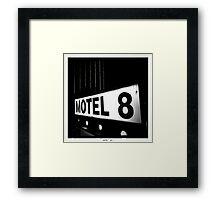 Motel 8 Framed Print