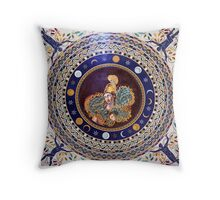 Athena mosaic in the Vatican Museums Throw Pillow