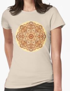 Ornate vintage vector napkin Womens Fitted T-Shirt