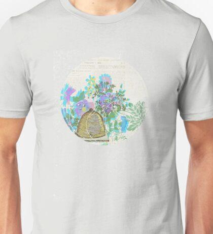 Bees and Blooms III: Watercolor illustrated honeybee & flower print Unisex T-Shirt