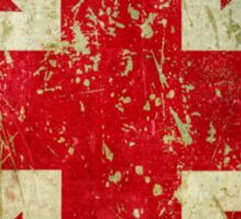 Grunge Union Jack - Scratched Metal Effect Sticker