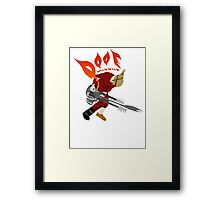 DOOF Warrior VS The World Framed Print