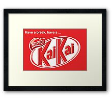 KaiKai (with slogan) Framed Print