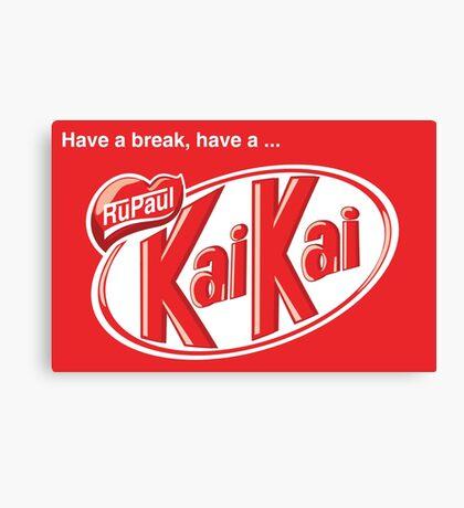 KaiKai (with slogan) Canvas Print