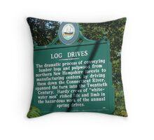 Log Drives Throw Pillow