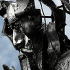 iron mans head by Ilapin