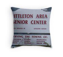 Senior Center in Littleton NH Throw Pillow