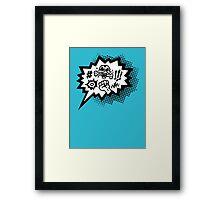 COMIC Curses, Skull, Speech Bubble, Comic Book Explosion, Cartoon Framed Print