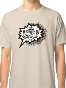 COMIC Curses, Skull, Speech Bubble, Comic Book Explosion, Cartoon Classic T-Shirt