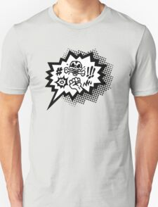 COMIC Curses, Skull, Speech Bubble, Comic Book Explosion, Cartoon T-Shirt