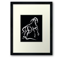 Horse white runner Framed Print
