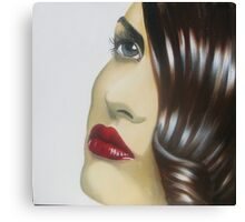 Brunette Canvas Print