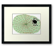 The Spider and the Web Framed Print