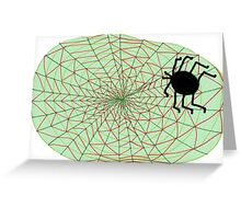The Spider and the Web Greeting Card