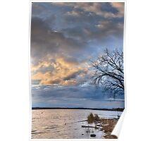 Onondaga Lakefront at Sunset Poster