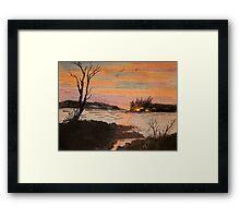 Camp Fire Island Framed Print