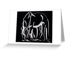 Horse -  Be strong Greeting Card