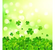 Flying clovers Photographic Print