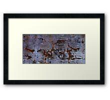 tortured cement Framed Print