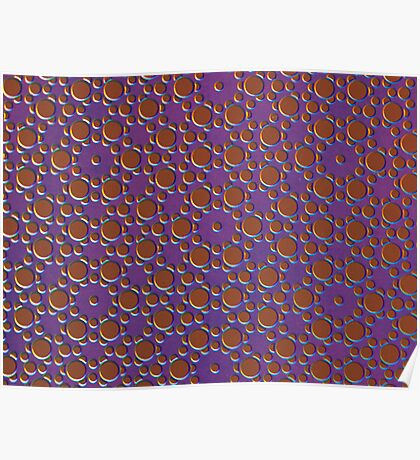 Silicon Atoms Purple Brown Poster