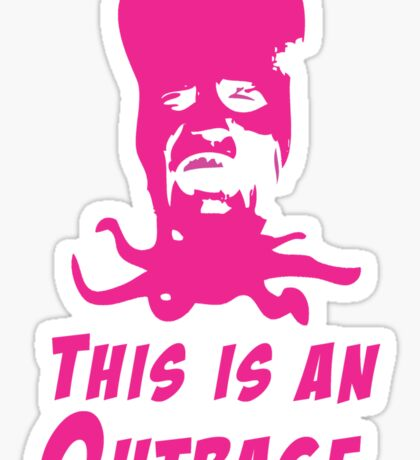 Mighty Boosh - Tony Harrison - This Is An Outrage Sticker
