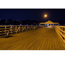 A night on the pier Photographic Print