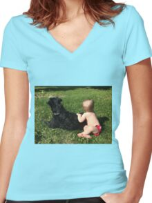 Every Child Deserves A Dog Women's Fitted V-Neck T-Shirt