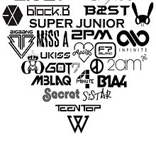 Kpop Group logos  by TotoroXkawaii