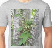 Wild Cucumber On Birch Unisex T-Shirt