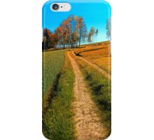 Hiking trail following the trees iPhone Case/Skin
