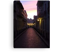 Old San Juan at night Canvas Print