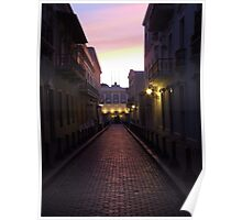 Old San Juan at night Poster