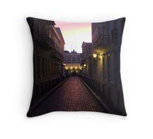 Old San Juan at night Throw Pillow