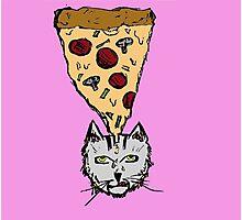 Pizza Cat Photographic Print