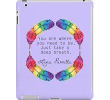 Lana Parrilla Quote (Black text) iPad Case/Skin