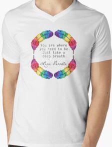 Lana Parrilla Quote (Black text) Mens V-Neck T-Shirt