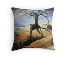 Emerging From a Parched Landscape Throw Pillow