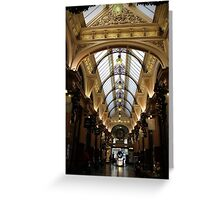 Block Arcade Melbourne Greeting Card