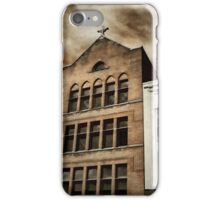 City Cross Touches The Ominous Sky iPhone Case/Skin